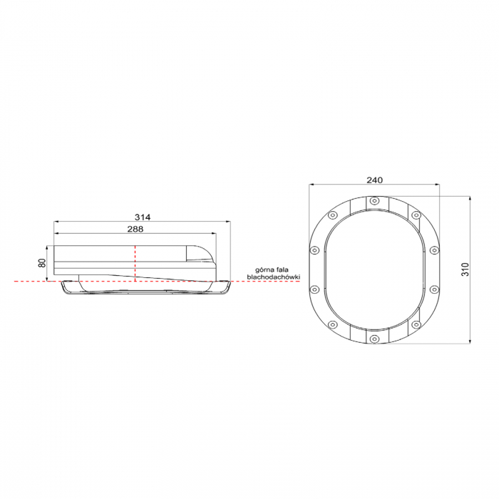 Element aerisire țiglă metalică profil N Negru RAL 9005 [2]