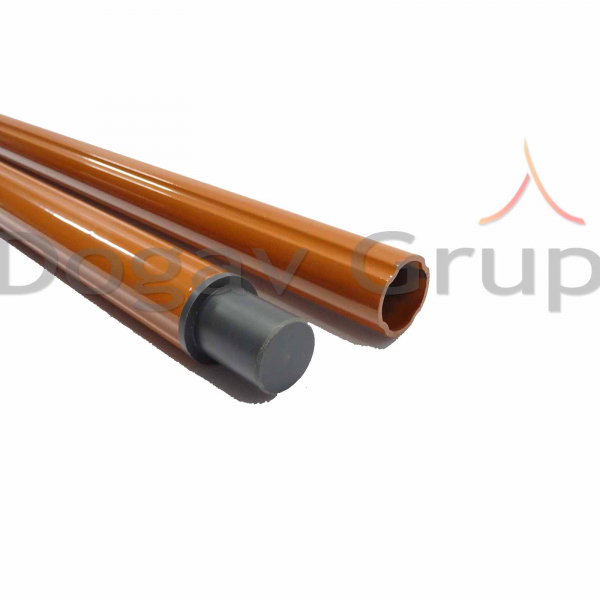 Parazapada cilindrica 2m - tigla metalica 3