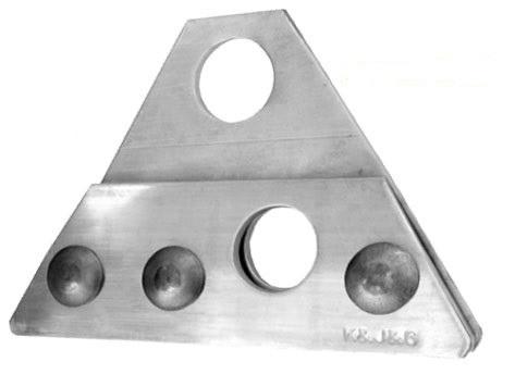 Suport ALUMINIU pentru 2 Cilindri parazapada tabla click, faltuita, retropanel - Copie 1