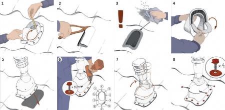 Cos ventilare tablă șindrilă bituminoasă, membrană [2]