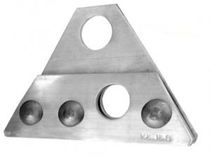 Suport ALUMINIU pentru 2 Cilindri parazapada tabla click, faltuita, retropanel - Copie1