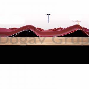 Surub pentru tigla metalica, autoforant, cu saiba 4,8 x 35 mm, cutie 250 bucati1