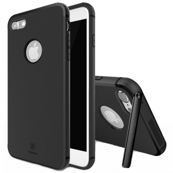 Capac de protectie Baseus Hidden Bracket pentru iPhone 7, Negru 0