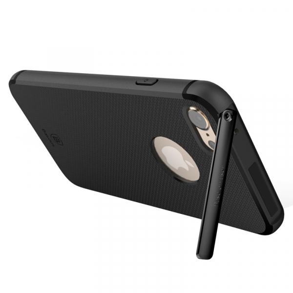 Capac de protectie Baseus Hidden Bracket pentru iPhone 8, Negru 3