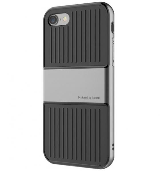Capac de protectie Baseus Travel Case pentru iPhone 7, Gri 1