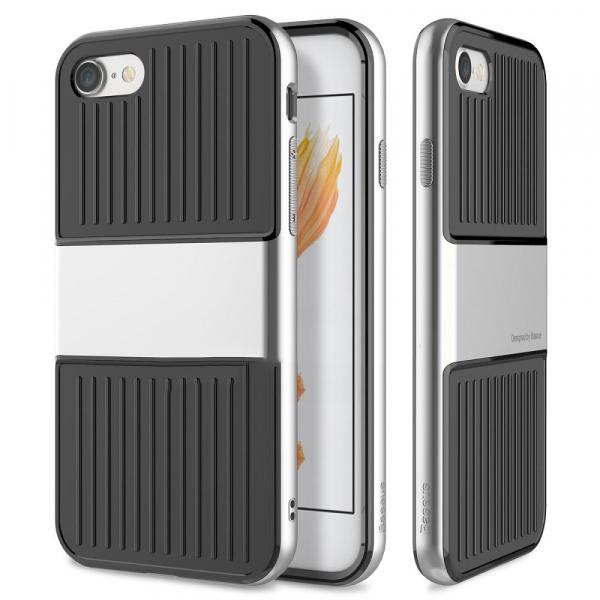 Capac de protectie Baseus Travel Case pentru iPhone 8, Argintiu 0