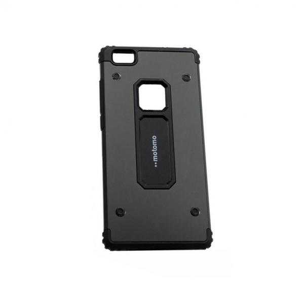 Capac de protectie Motomo Armor Hybrid pentru Huawei P8 Lite, Negru [0]