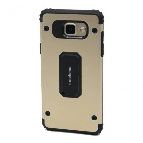 Capac de protectie Samsung Galaxy A7 (2017), Motomo Armor Hybrid, Gold 0