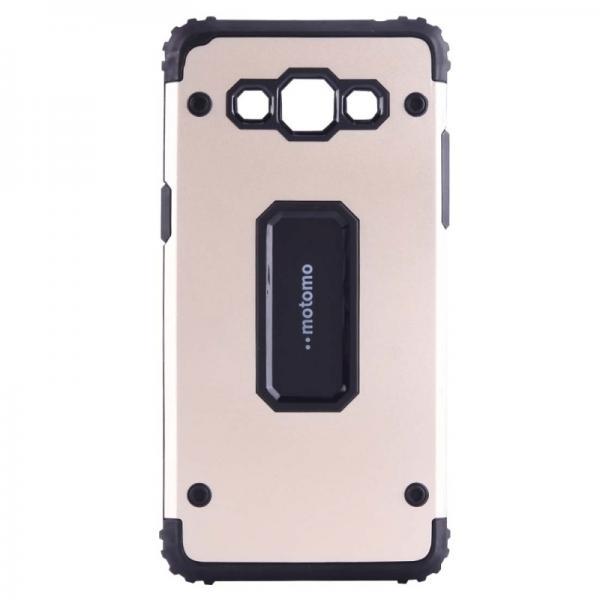 Capac de protectie Samsung Galaxy J7 (2016), Motomo Armor Hybrid, Gold 0