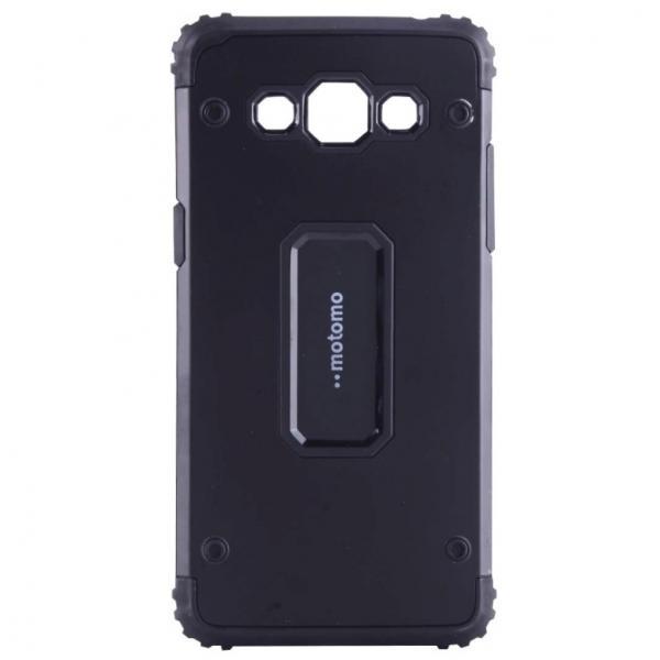 Capac de protectie Samsung Galaxy J7 (2016), Motomo Armor Hybrid, Negru 0