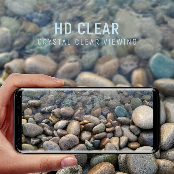 Folie sticla curbata Full Glue Samsung Galaxy Note 8, Negru 3