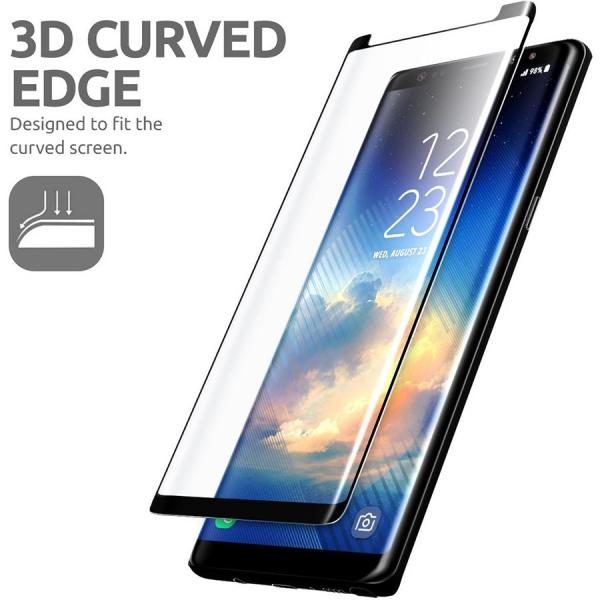 Folie sticla curbata Full Glue Samsung Galaxy Note 8, Negru 1