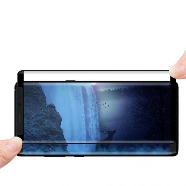 Folie sticla curbata Full Glue Samsung Galaxy Note 8, Negru 2