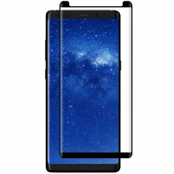 Folie sticla curbata Full Glue Samsung Galaxy Note 8, Negru 0