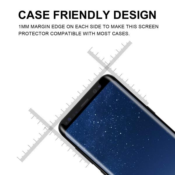 Folie sticla curbata Full Glue Samsung Galaxy S8, Negru 3
