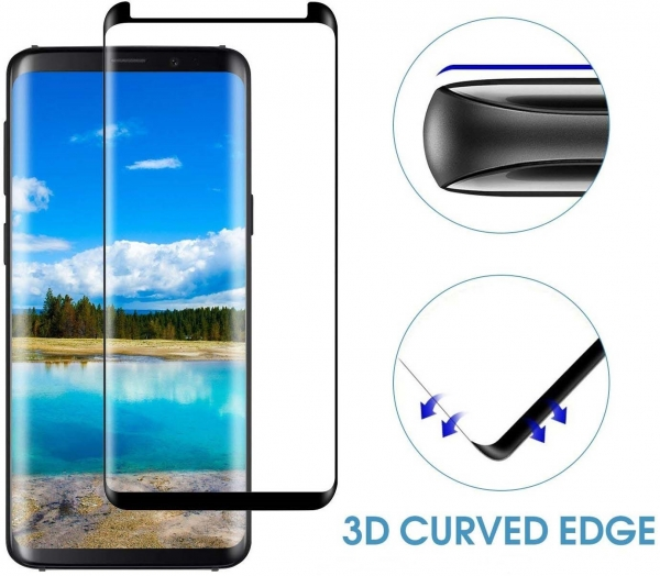 Folie sticla curbata Full Glue Samsung Galaxy S9 Plus, Negru 1