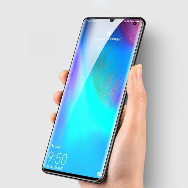 Folie sticla curbata UV Full Glue pentru Huawei P30 Pro, Transparenta 3