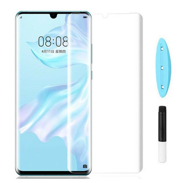 Folie sticla curbata UV Full Glue pentru Huawei P30 Pro, Transparenta 2