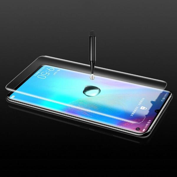 Folie sticla curbata UV Full Glue pentru Huawei P30 Pro, Transparenta 4