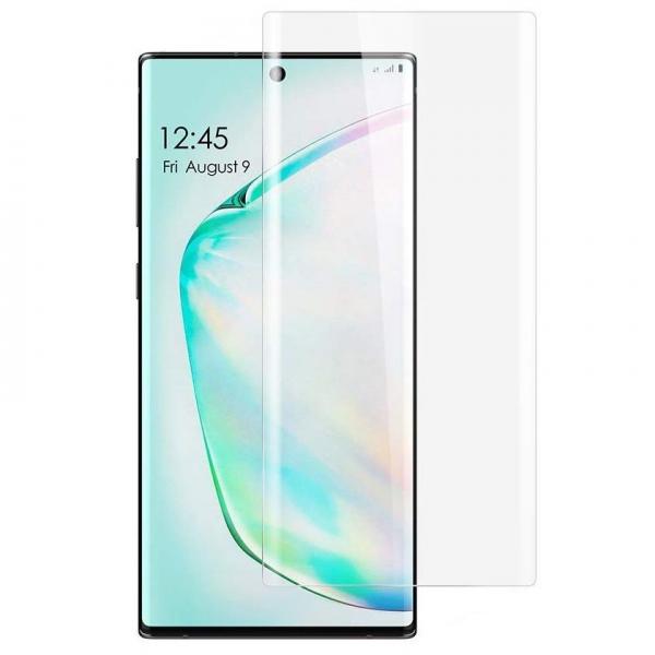 Folie sticla curbata UV Full Glue pentru Samsung Galaxy Note 10 Plus, Transparenta 0
