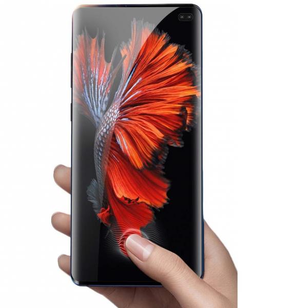 Folie sticla curbata UV Full Glue pentru Samsung Galaxy S10+, Transparenta 5
