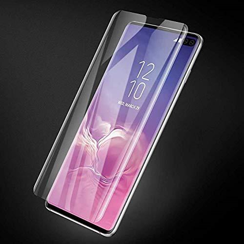 Folie sticla curbata UV Full Glue pentru Samsung Galaxy S10+, Transparenta 1