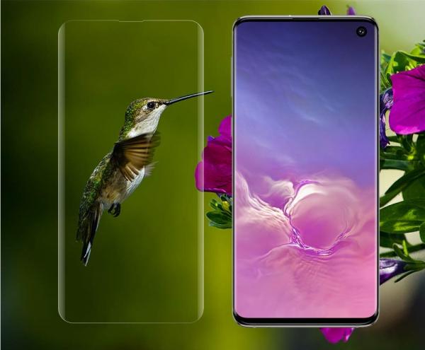 Folie sticla curbata UV Full Glue pentru Samsung Galaxy S10, Transparenta 2