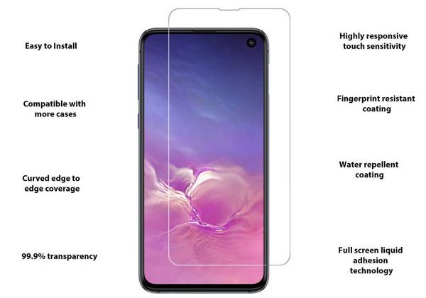 Folie sticla curbata UV Full Glue pentru Samsung Galaxy S10e, Transparenta 1