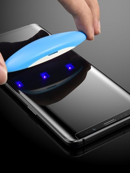 Folie sticla curbata UV Full Glue Samsung Galaxy S9 Plus 3