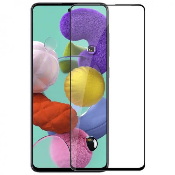 Folie sticla Samsung Galaxy A51 Full Cover Full Glue, Negru 0