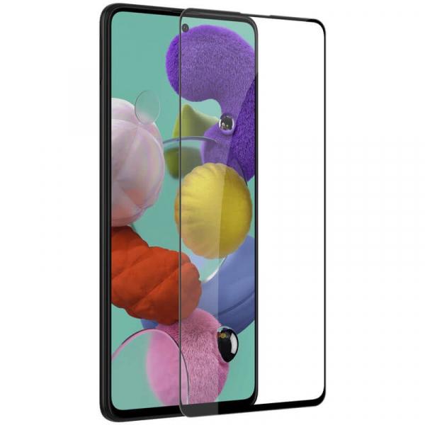 Folie sticla Samsung Galaxy A51 Full Cover Full Glue, Negru 2