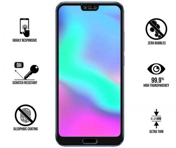 Folie sticla securizata 5D Full Glue Huawei Honor 10, Negru 1