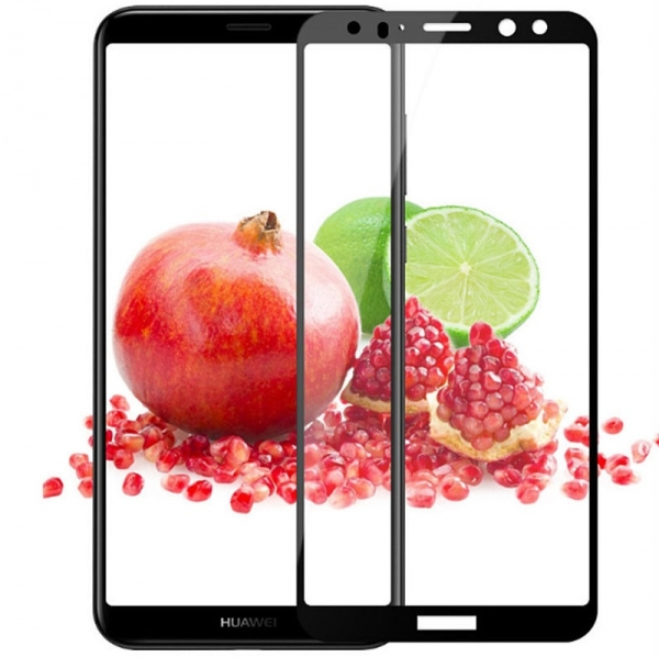 Folie sticla securizata 5D Full Glue Huawei Mate 10 Lite, Negru 1