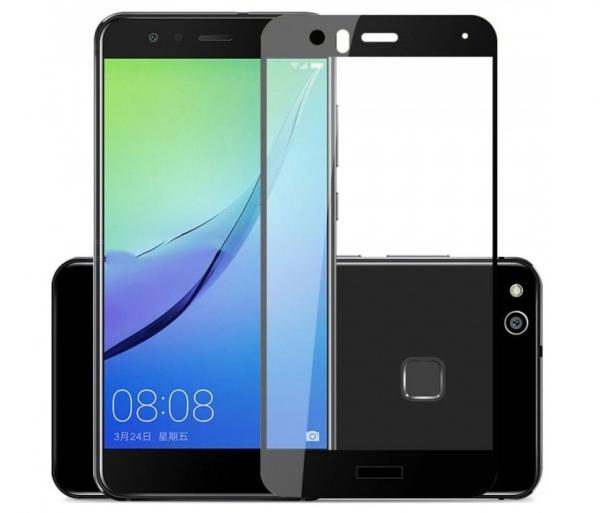 Folie sticla securizata 5D Full Glue Huawei P10 Lite, Negru 0