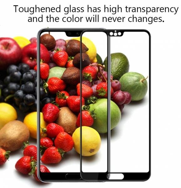 Folie sticla securizata 5D Full Glue Huawei P20 Pro, Negru [3]