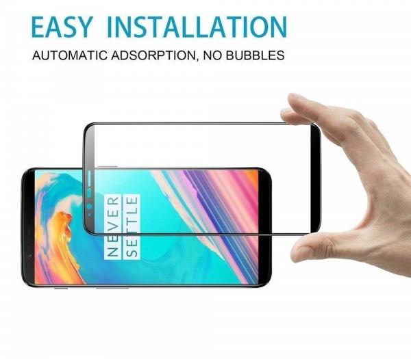Folie sticla securizata 5D Full Glue OnePlus 5T, Negru 3