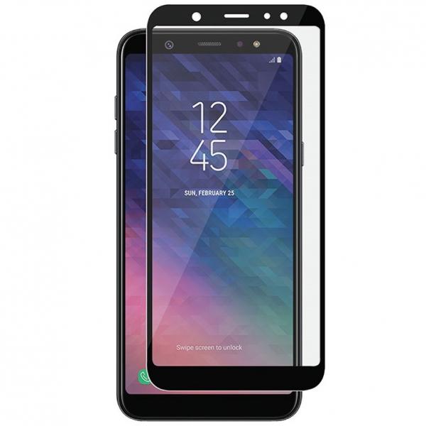 Folie sticla securizata 5D Full Glue Samsung Galaxy A6 (2018), Negru 0