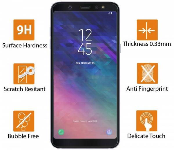 Folie sticla securizata 5D Full Glue Samsung Galaxy A6 (2018), Negru 1