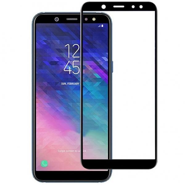 Folie sticla securizata 5D Full Glue Samsung Galaxy A6 (2018), Negru 2