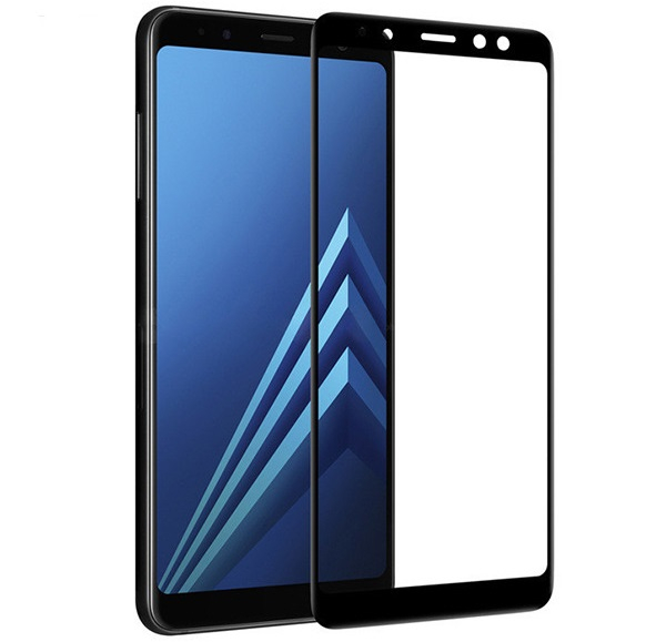 Folie sticla securizata 5D Full Glue Samsung Galaxy A8 Plus (2018), Negru 2