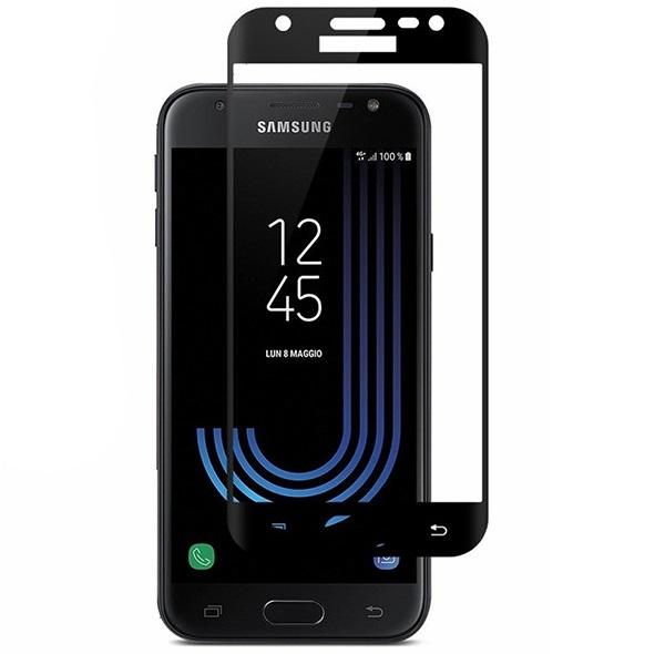 Folie sticla securizata 5D Full Glue Samsung Galaxy J3 (2017), Negru [0]