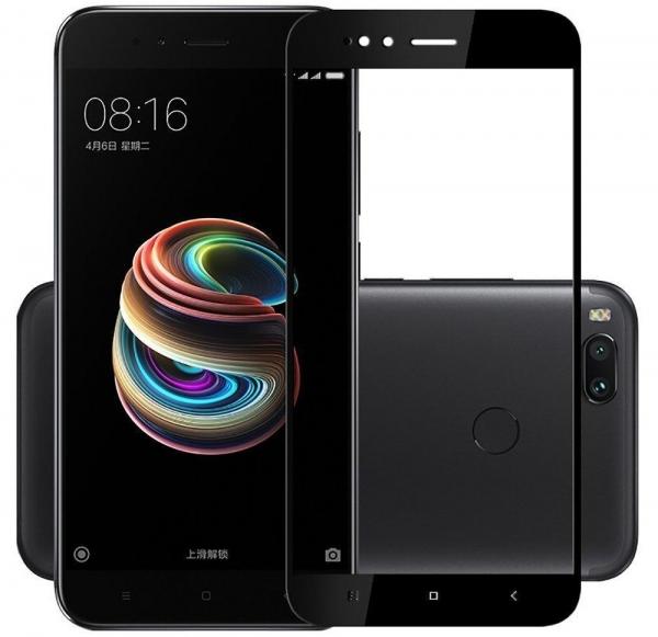 Folie sticla securizata 5D Full Glue Xiaomi Mi A1, Negru 0