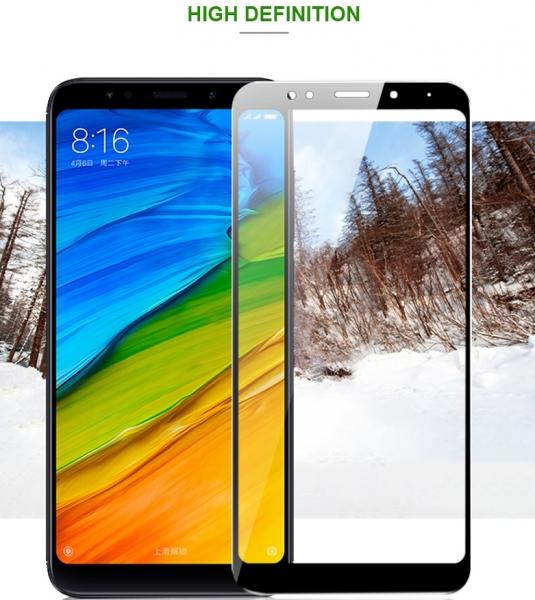 Folie sticla securizata 5D Full Glue Xiaomi Redmi 5 Plus, Negru [1]