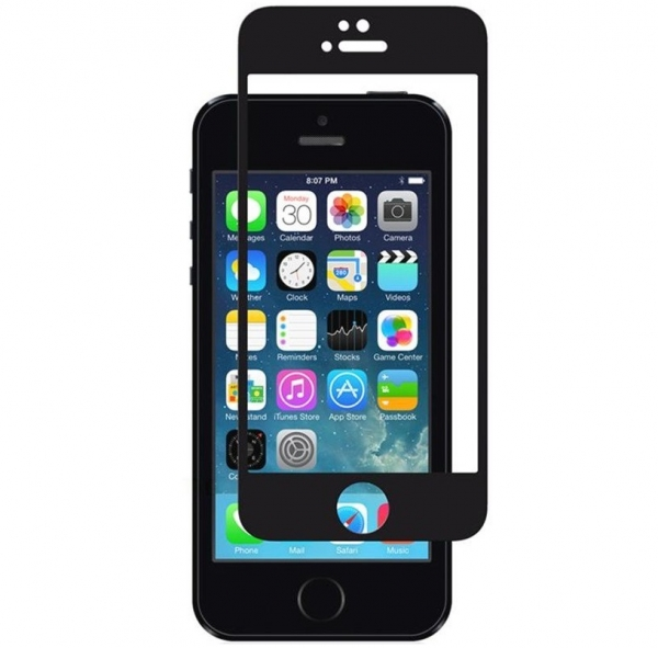 Folie sticla securizata Full Glue iPhone 5 / 5S / SE, Black 0