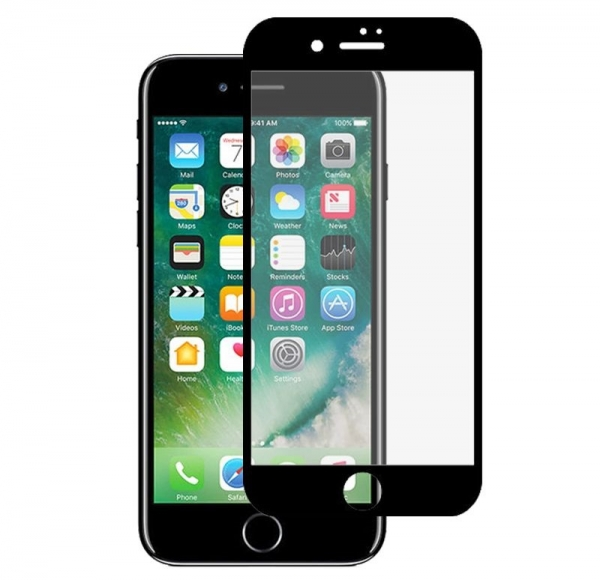 Folie sticla securizata Full Glue iPhone 8, Black 0
