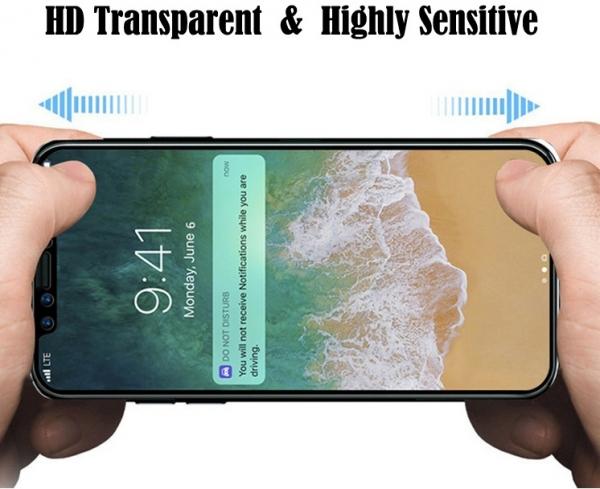 Folie sticla securizata Full Glue iPhone X, Black