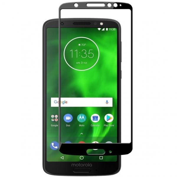 Folie sticla securizata Full Glue Motorola Moto G6, Black 0