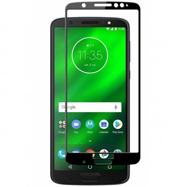 Folie sticla securizata Full Glue Motorola Moto G6 Plus, Black 0