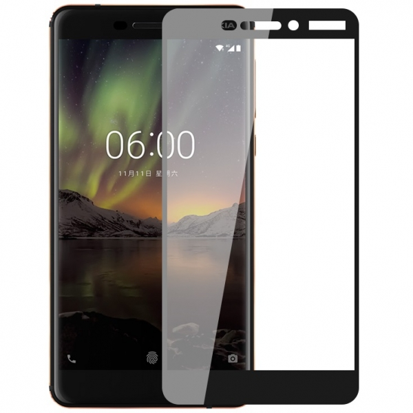 Folie sticla securizata Full Glue Nokia 6.1 (2018), Black 0