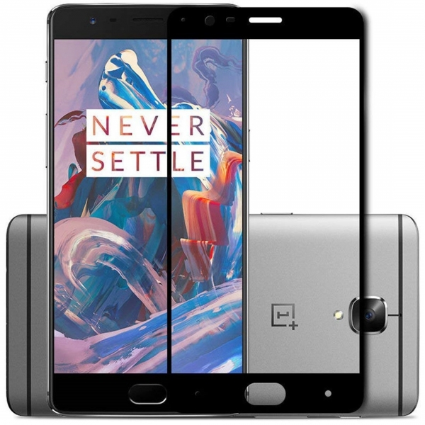 Folie sticla securizata Full Glue OnePlus 3, Black 0
